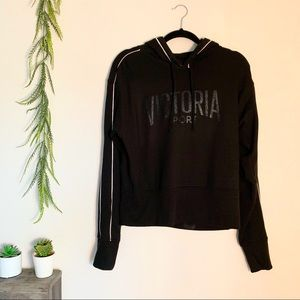 Victoria's Secret Black Fleece Hoodie with Graphic